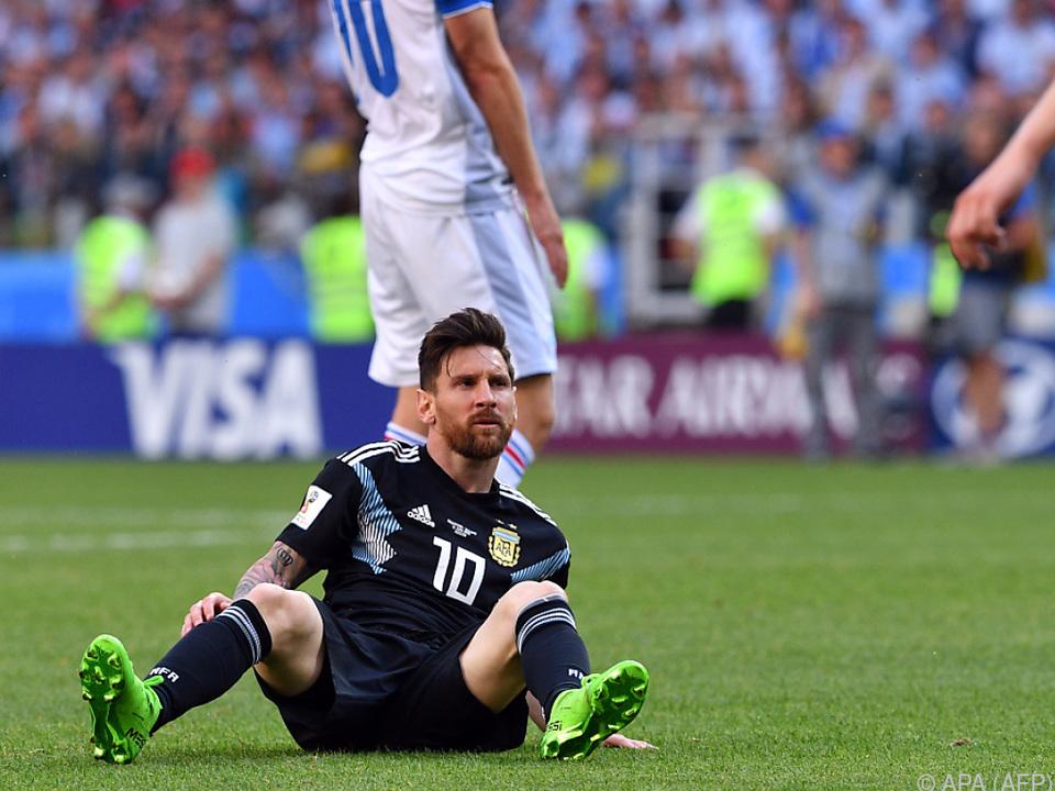 Lionel Messi gegen Island glücklos