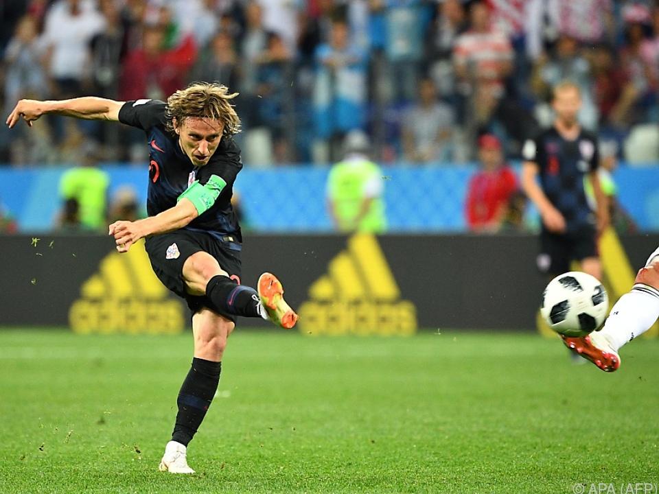 Luca Modric traf zum 2:0 für Kroatien