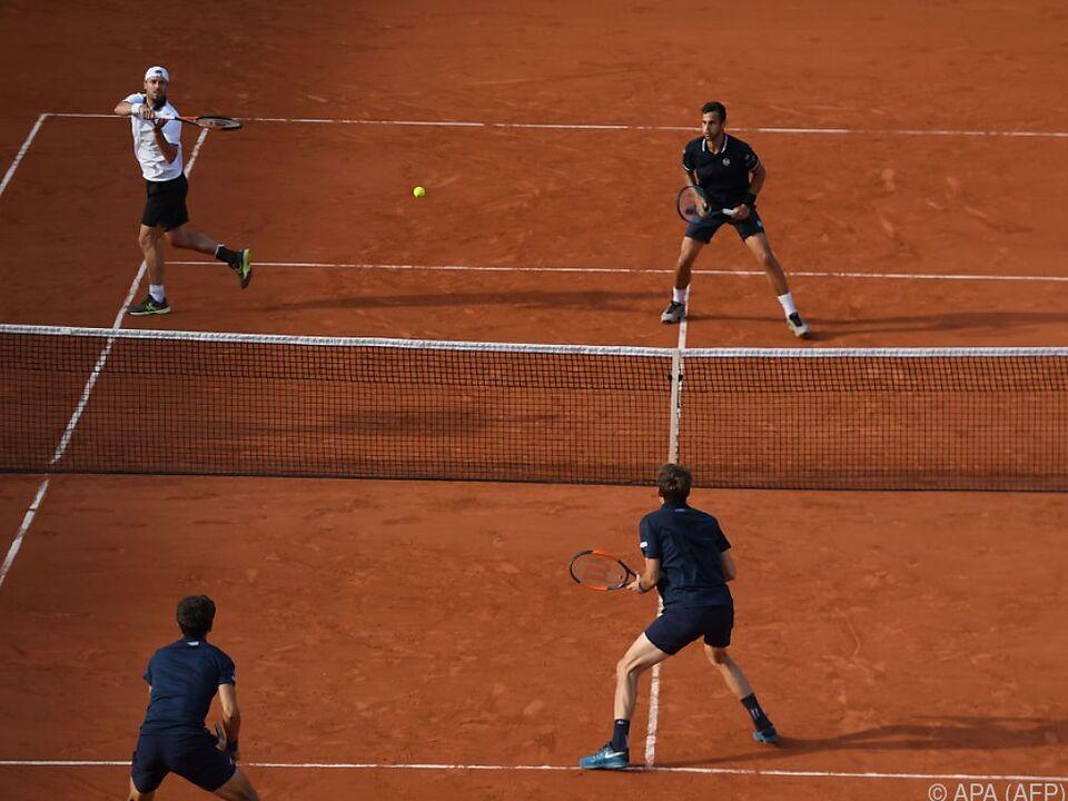 Marach/Pavic (im Bild hinten) verloren Finale gegen Herbert/Mahut