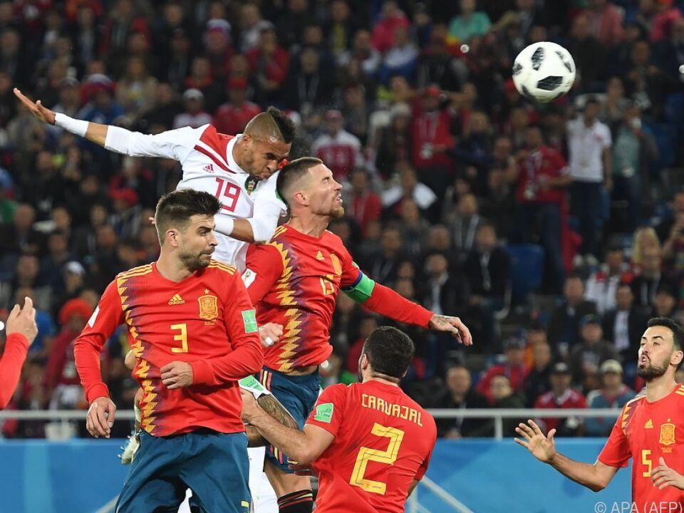 Marokko schenkte den spanischen Topstars nichts