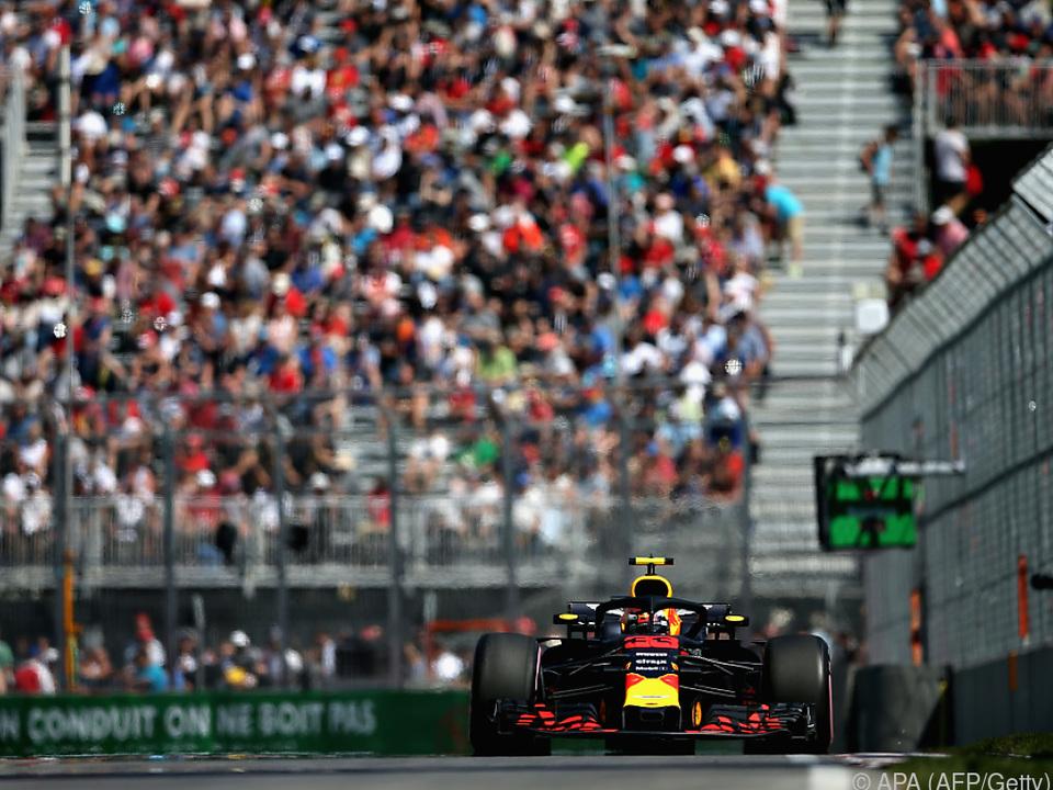 Max Verstappen im Red Bull setzte Duftmarke in Montreal