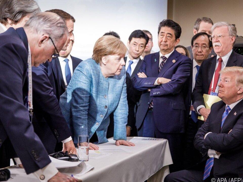 Merkel bekräftigte den Willen zu EU-Gegenmaßnahmen