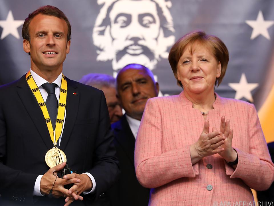 Merkel und Macron vertreten ähnliche Meinungen