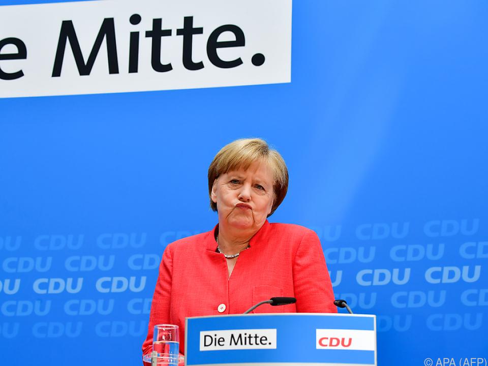 Merkel unterstrich demonstrativ noch einmal ihre Linie