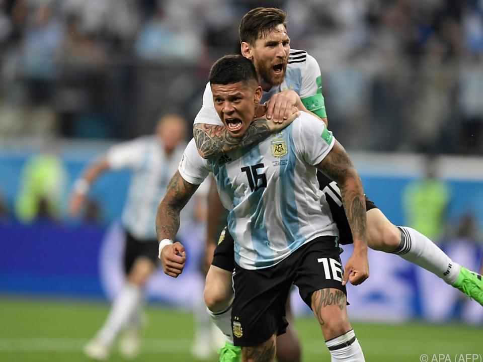 Mit dem Tor zum 2:1 brachen alle argentinischen Dämme