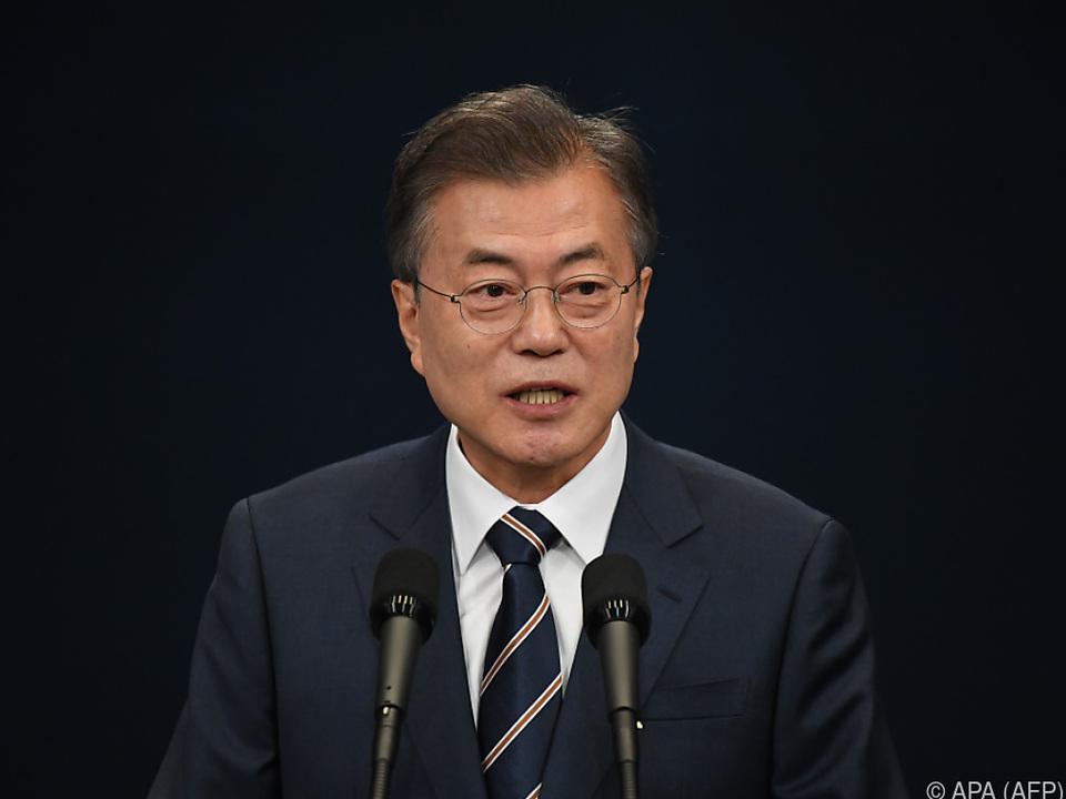 Moon Jae-in hofft auf weitere Fortschritte im Friedensprozess