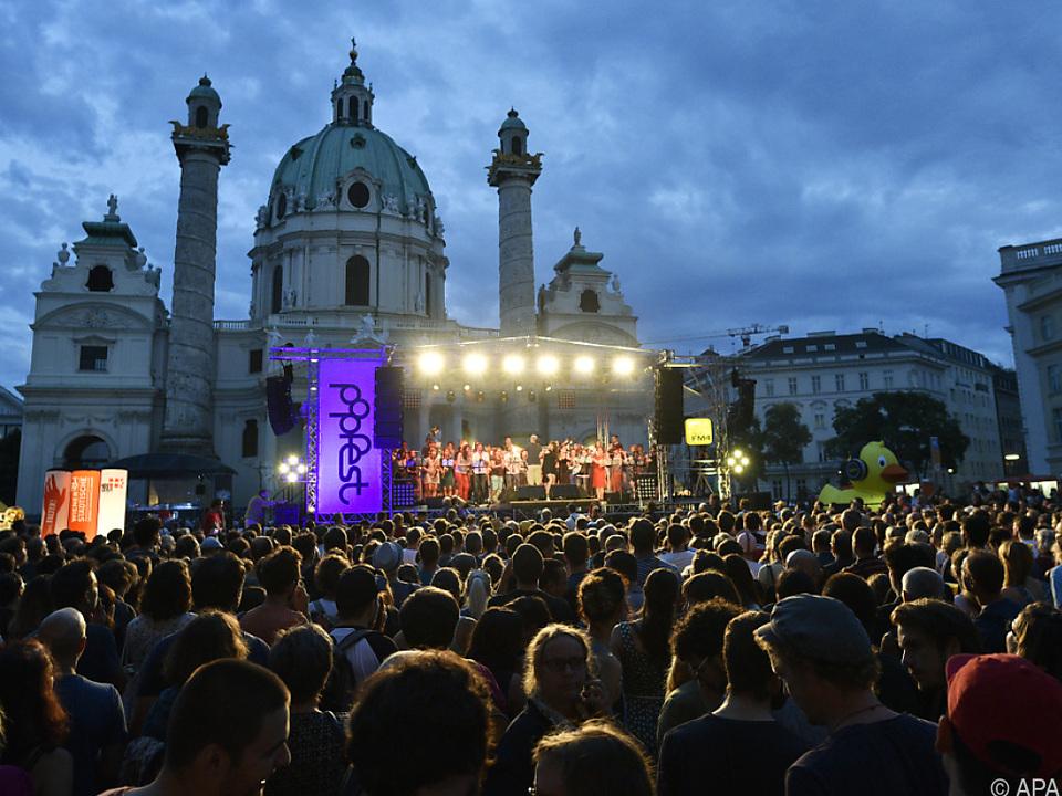 Popfest Wien von 26. bis 29. Juli rund um den Wiener Karlsplatz