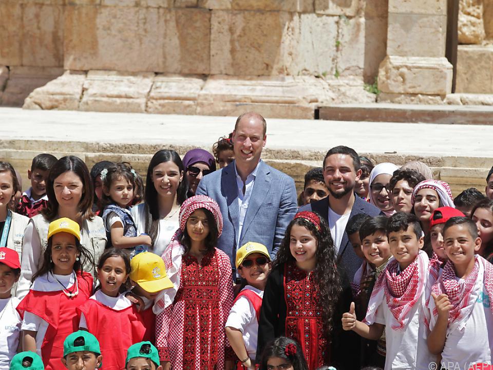 Prinz William zu Gast in Jordanien