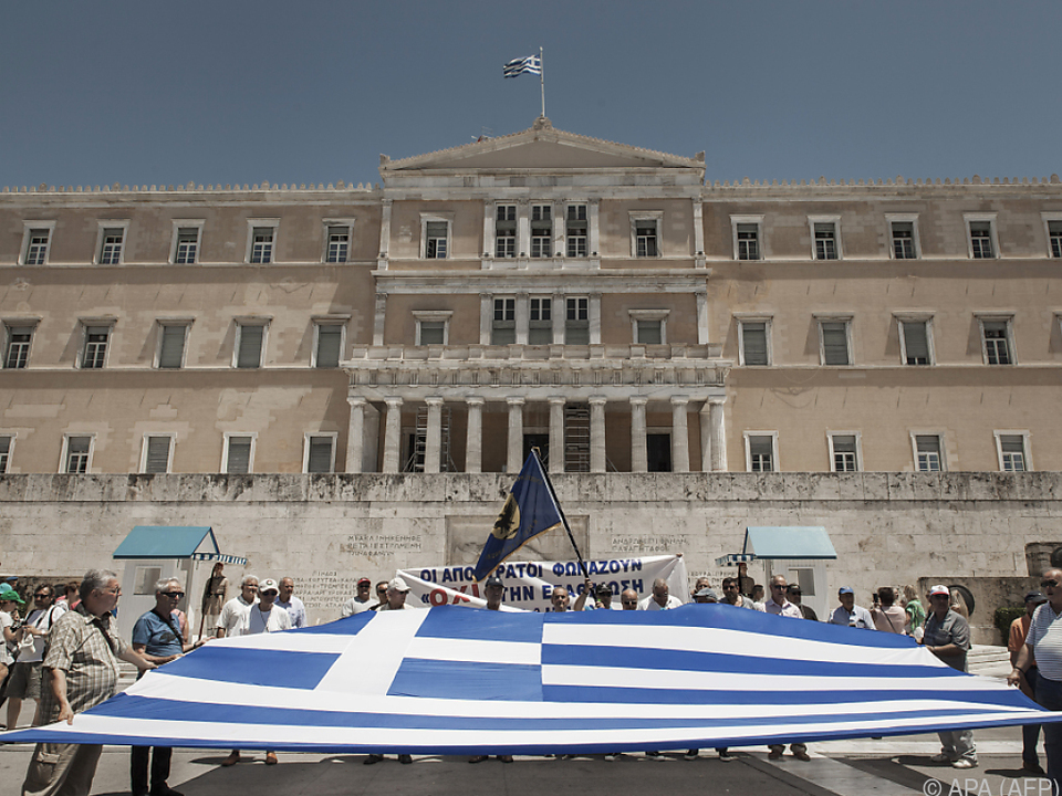 Protest vor dem griechischen Parlament in Athen
