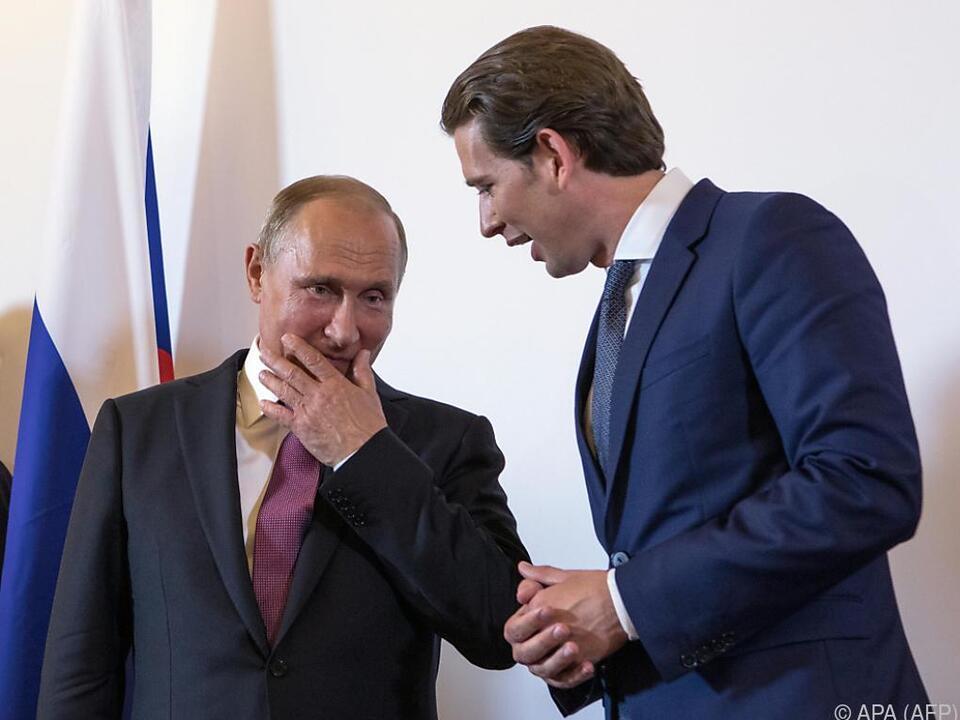 Putin soll Kurz gebeten haben, ein Treffen zu organisieren