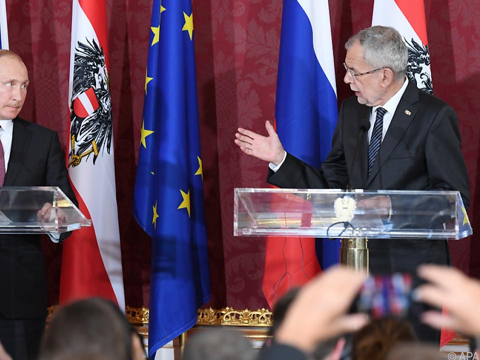 Putin und Van der Bellen traten vor die Kameras