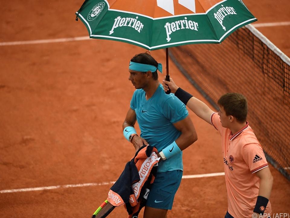 Rafael Nadal kann erst am Donnerstag wieder angreifen