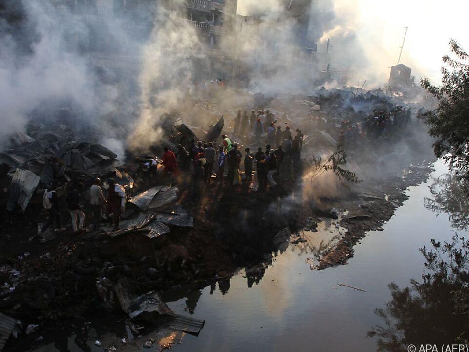 Rauchschwaden über dem Ort der Tragödie in Nairobi