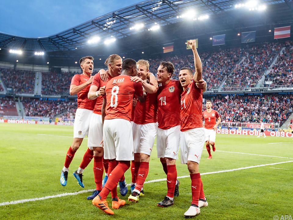 Riesenjubel in Rot-weiß-rot in Klagenfurt