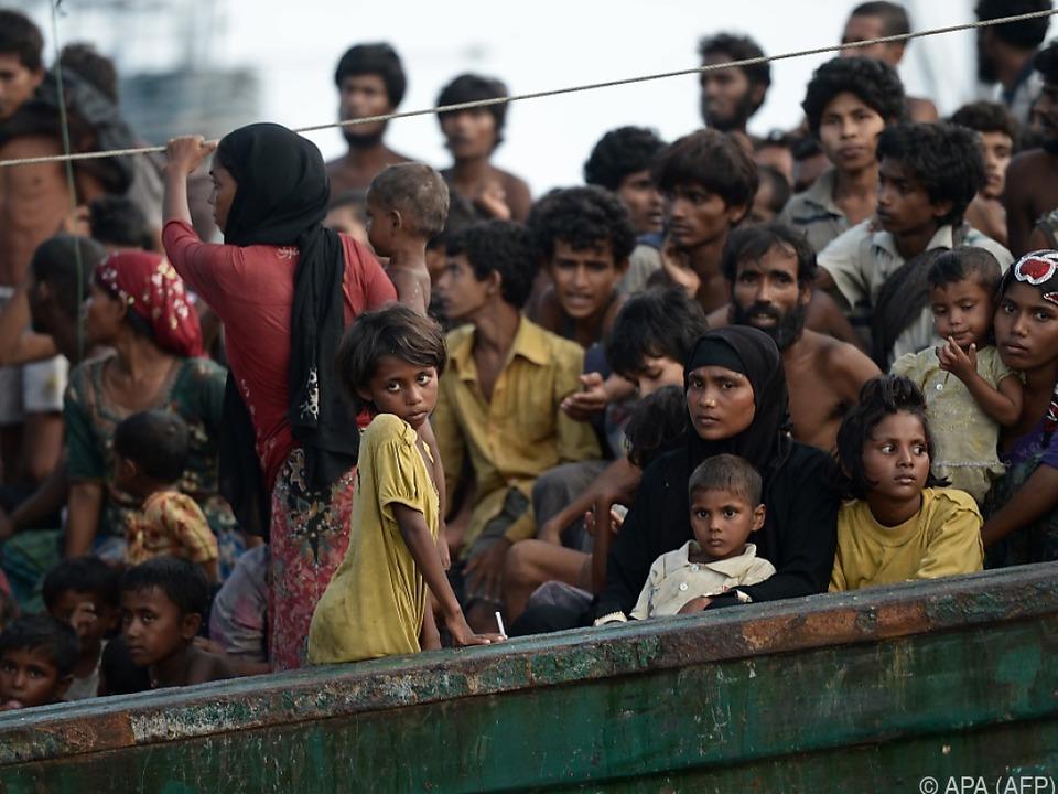 Rund 700.000 Rohingya flüchteten aus Myanmar