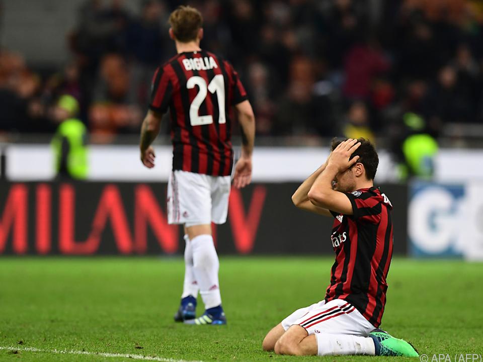 Schlechte Nachrichten für den AC Milan