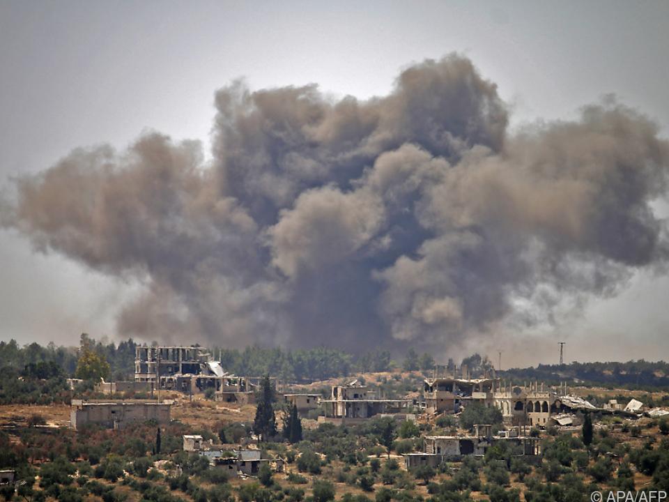 Schweres Bombardement in Daraa