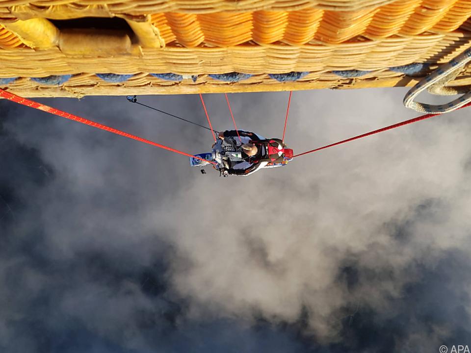 Blick von oben auf Stuntman Schachermayr