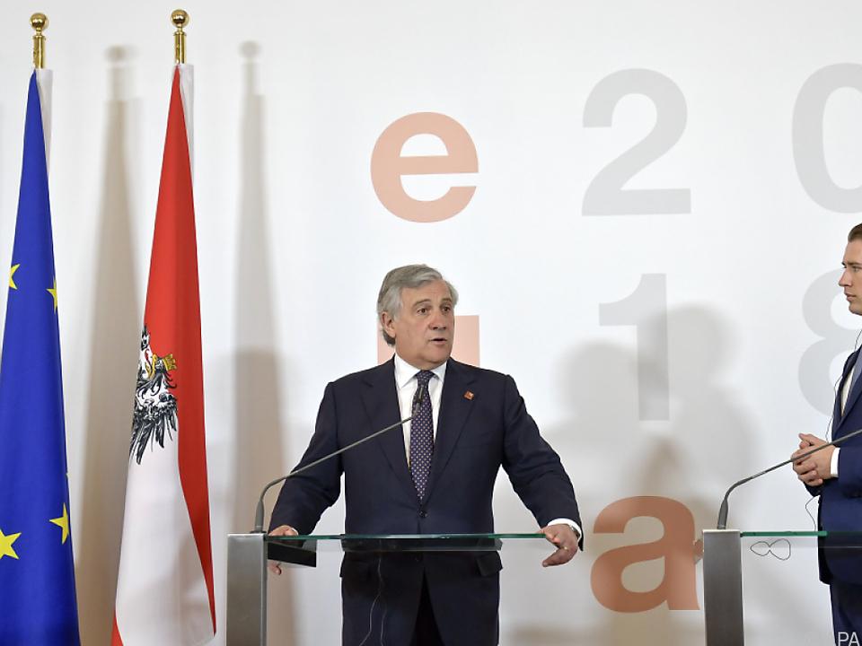 Tajani zu Gast bei Kanzler Kurz