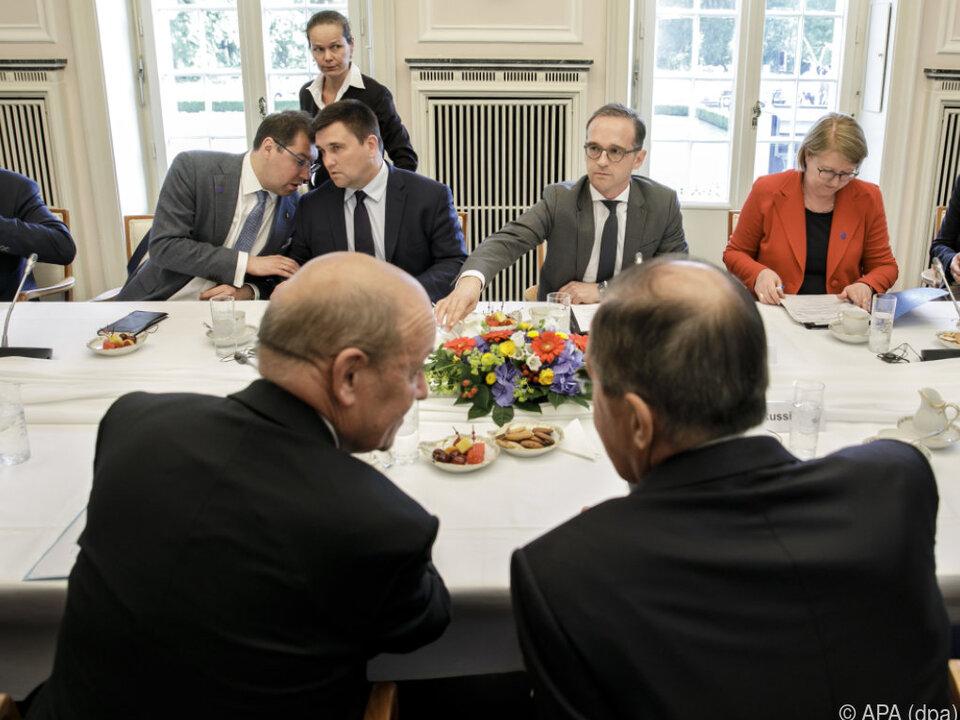 Treffen der Außenminister im sogenannten Normandie-Format