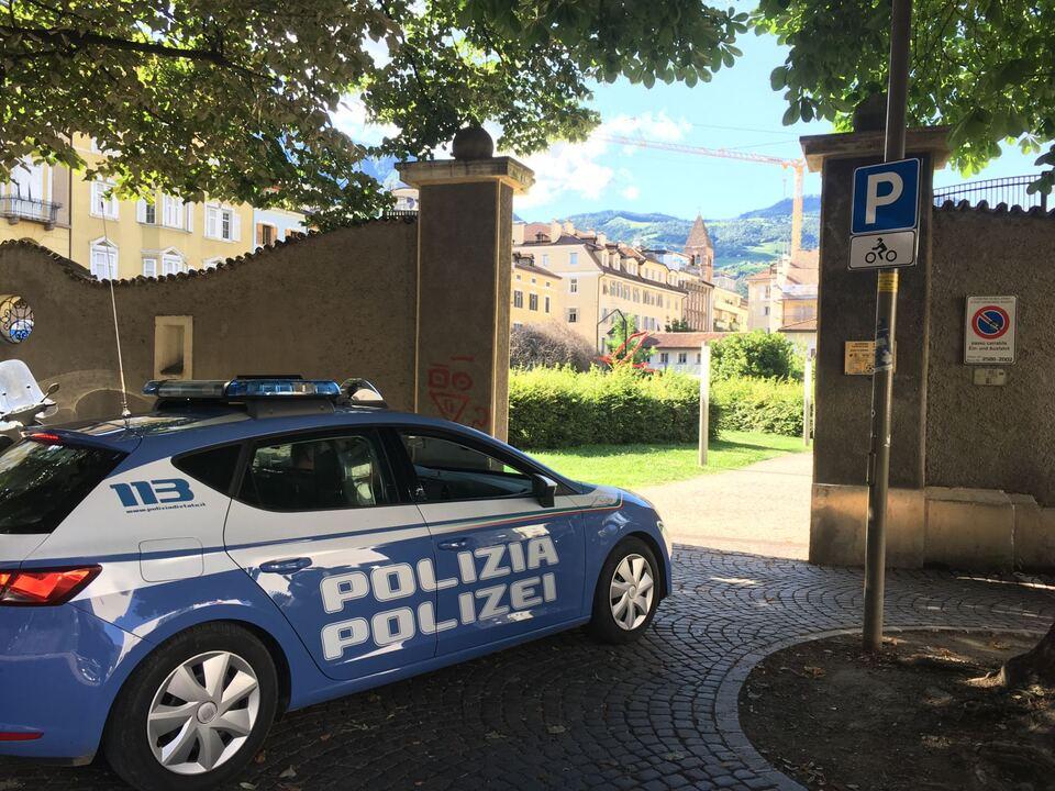 Volanti Parco Cappuccini Polizei Bozen