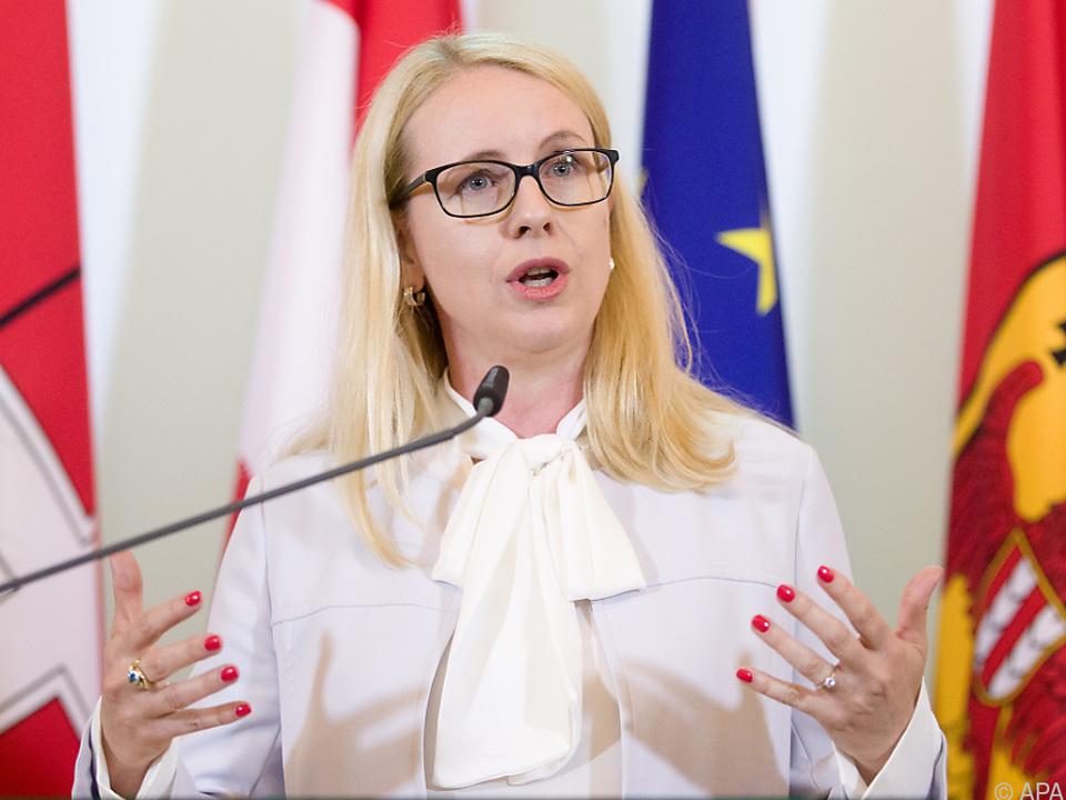 Wirtschaftsminister Margarete Schramböck