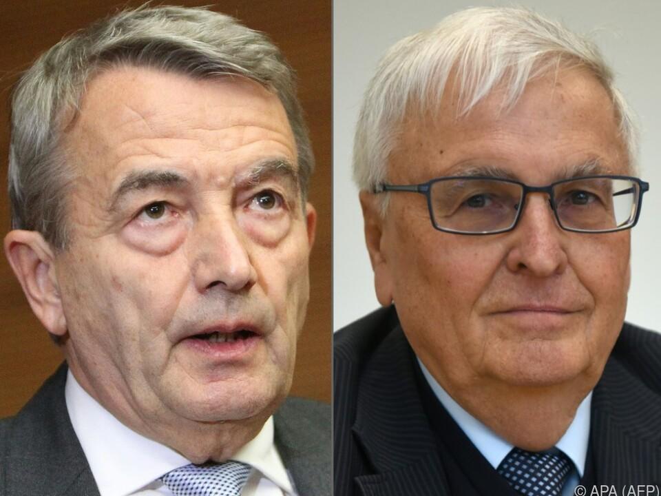 Wolfgang Niersbach (links) und  Theo Zwanziger unter Verdacht