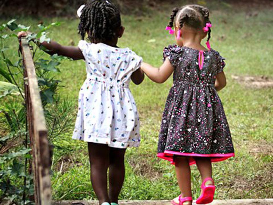 Mädchen Freundschaft Kinder