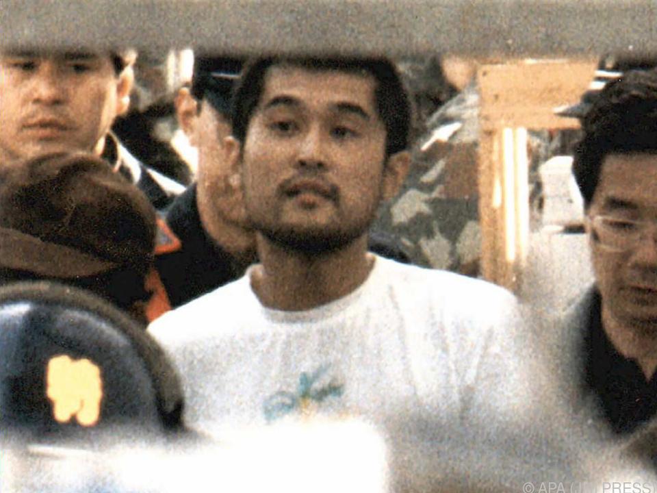 Aum Shinrikyo auf einer Aufnahme von 1995