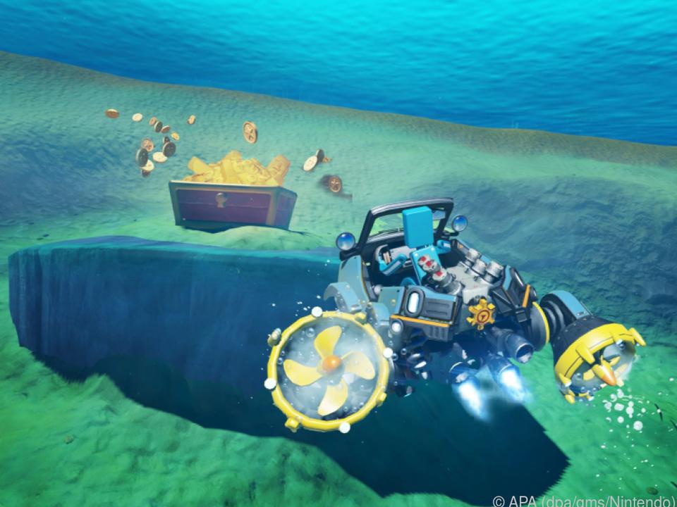 Ab unter Wasser: Mit dem Unterwassersteuer kann man U-Boote steuern