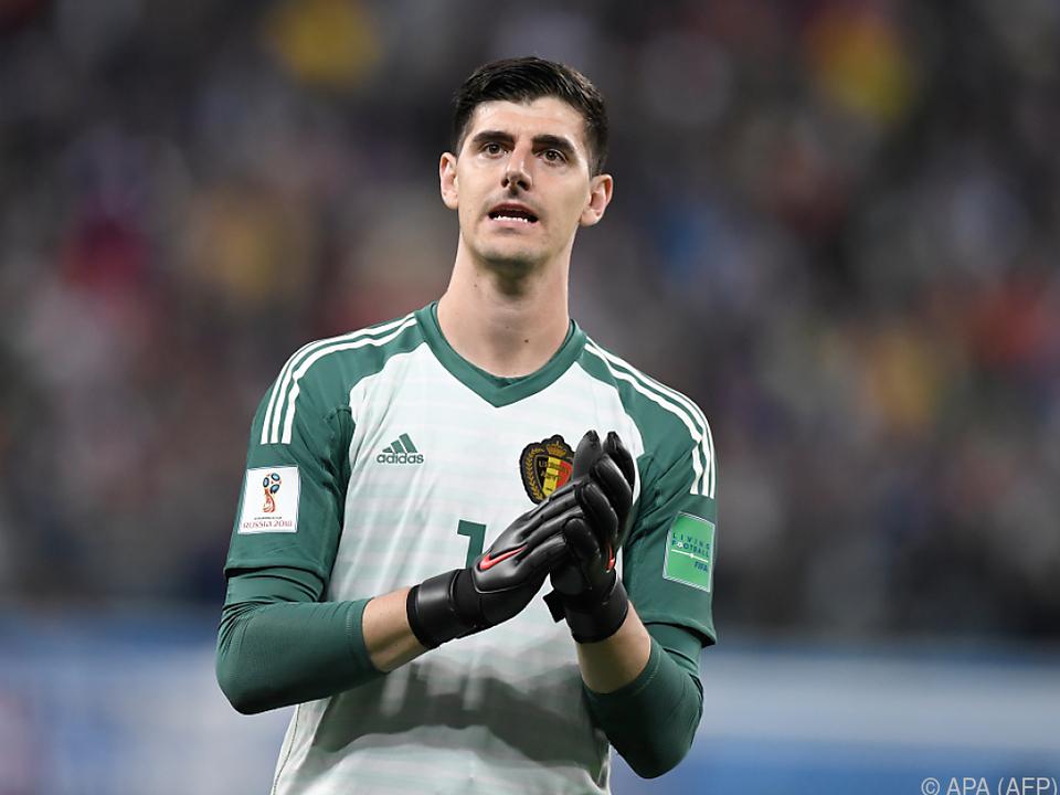 Belgiens Schlussmann Courtois ist frustriert