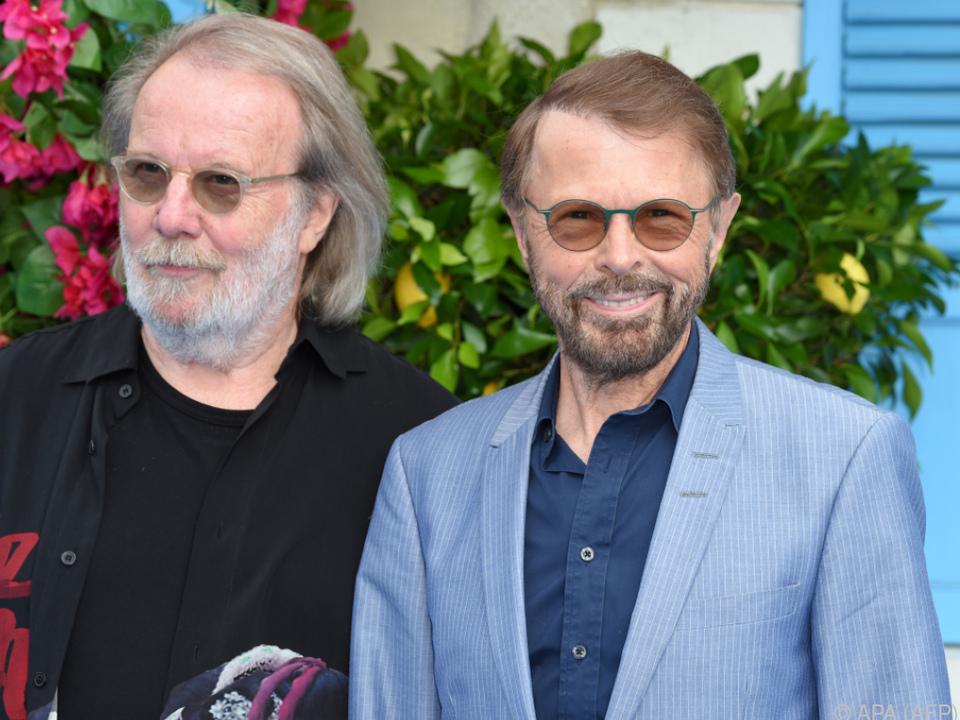 Björn und Benny (ABBA) sind beim zweiten \