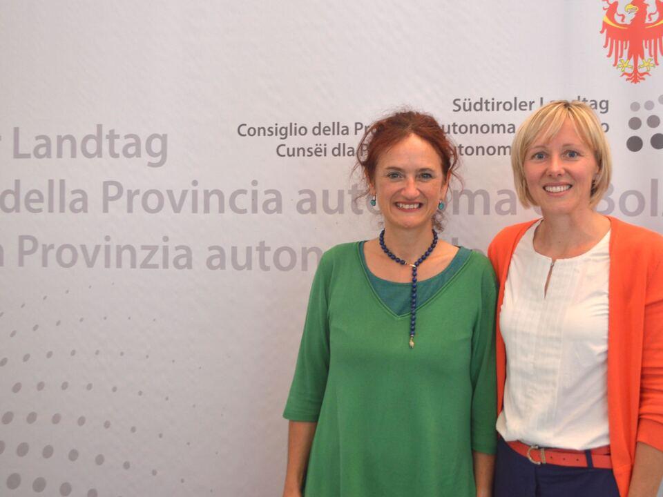 Brigitte Foppa und Magdalena Amhof
