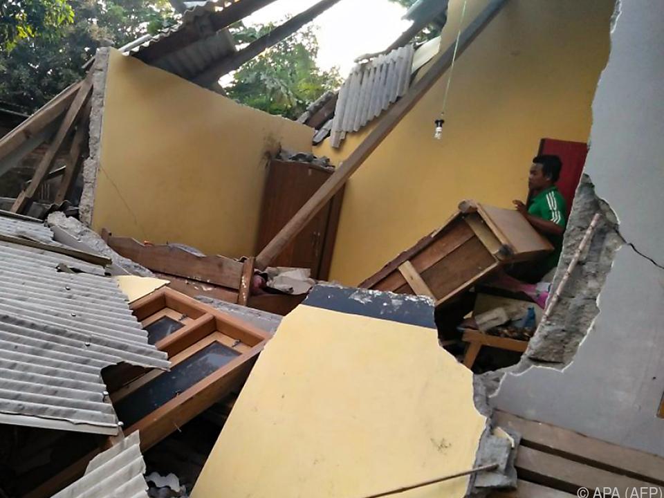 Das Beben am Sonntag sorgte für Zerstörung und Verwüstung