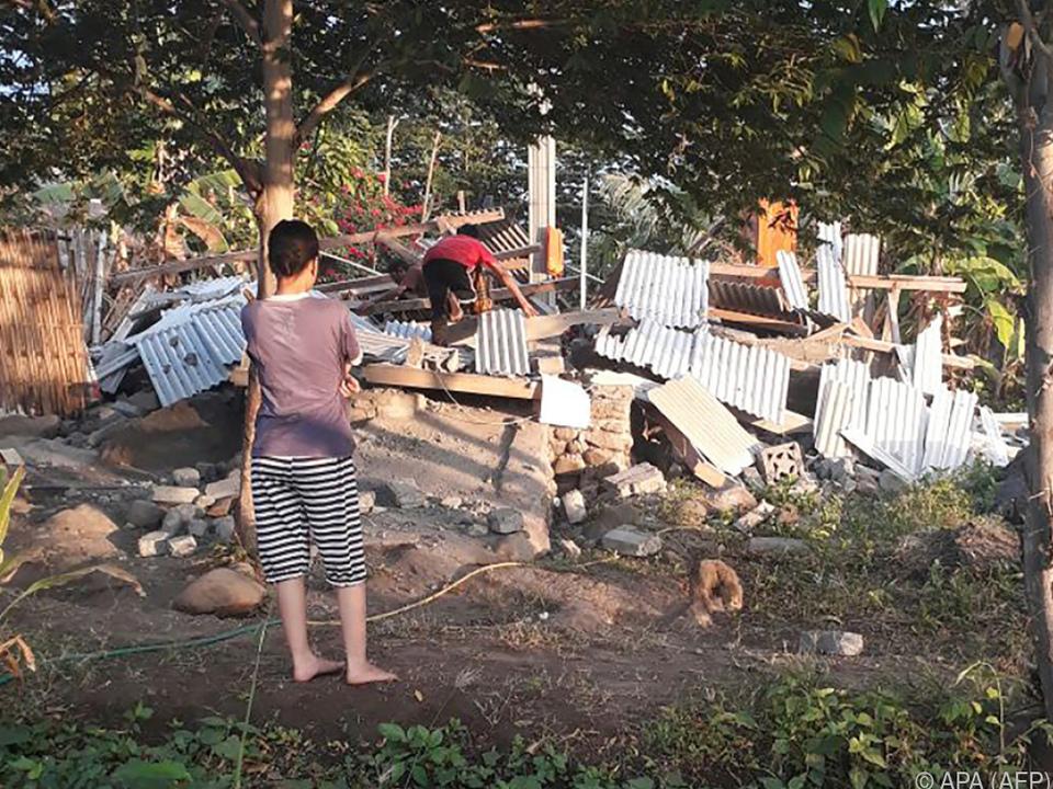 Das Erdbeben richtete großen Schaden an