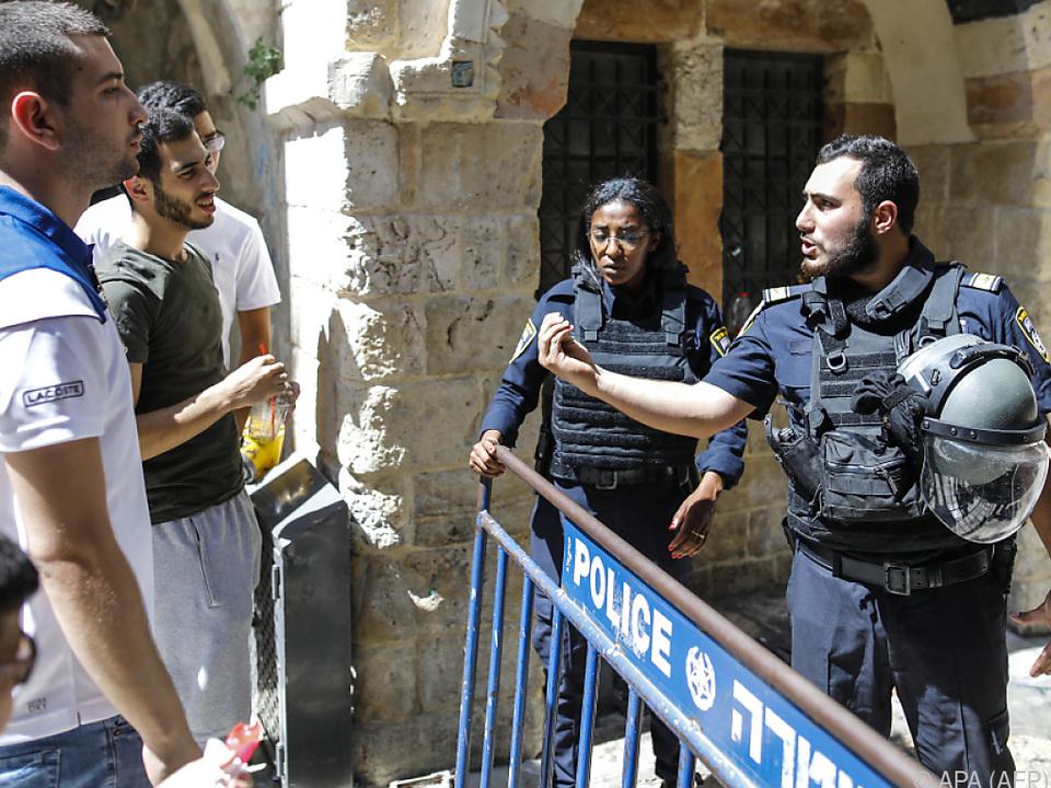 Die Polizei schloss das Gelände ab