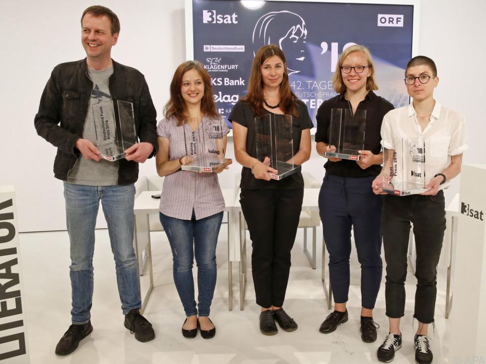 Die stolzen Preisträger in Klagenfurt