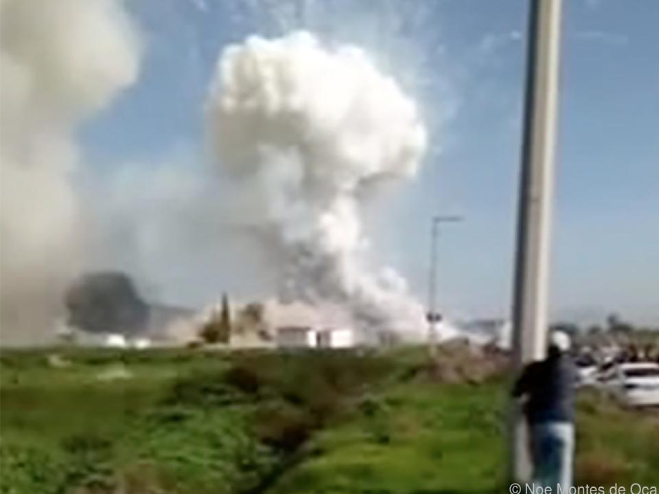 Die zweite Explosion wurde zufällig fotografisch festgehalten