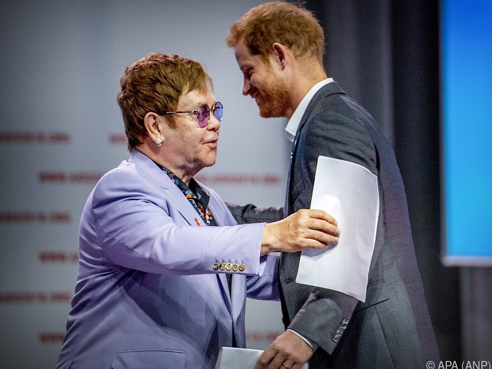 Elton John und Prinz Harry in Amsterdam
