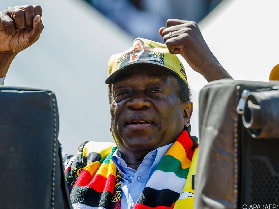 Emmerson Mnangagwa gilt als leichter Favorit