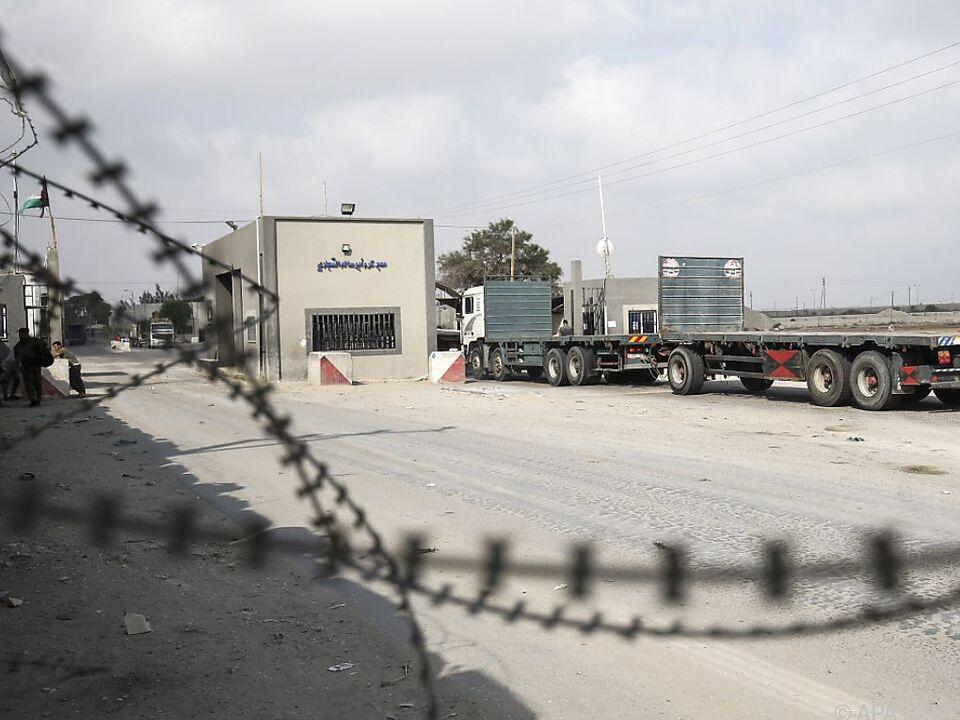 Grenzübergang zum Gaza-Streifen: Israel stoppte Treibstofflieferungen