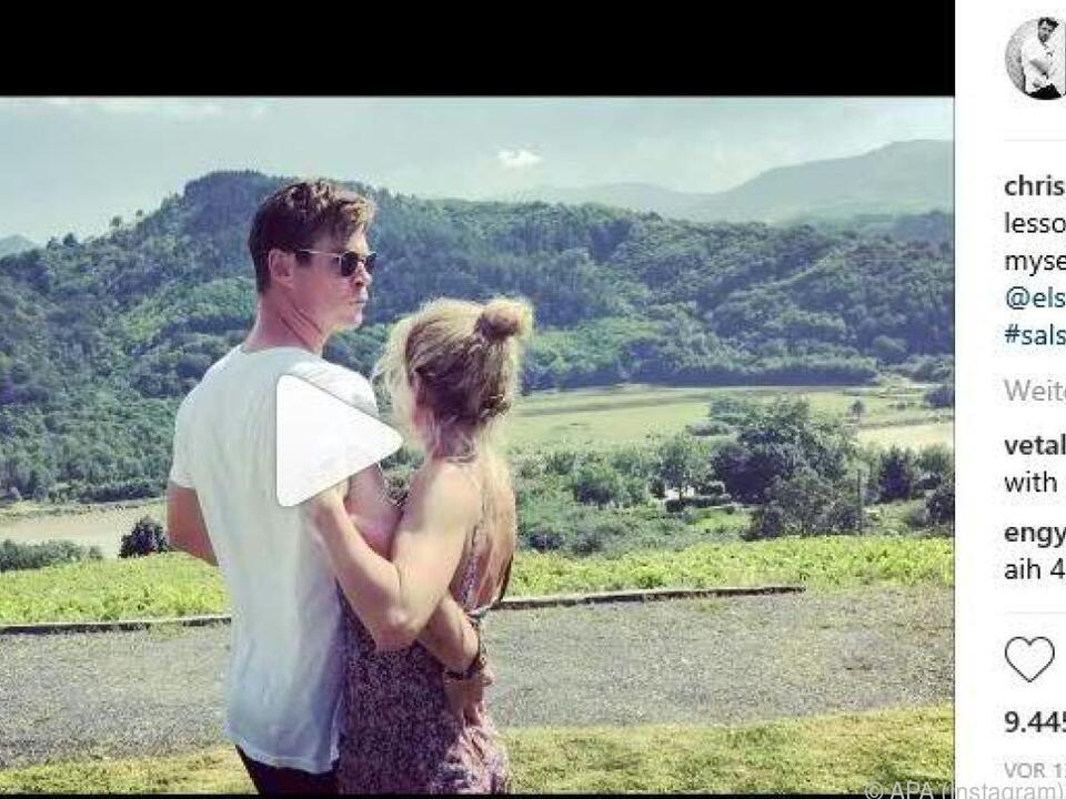 Hemsworth und seine Frau wagen ein Tänzchen