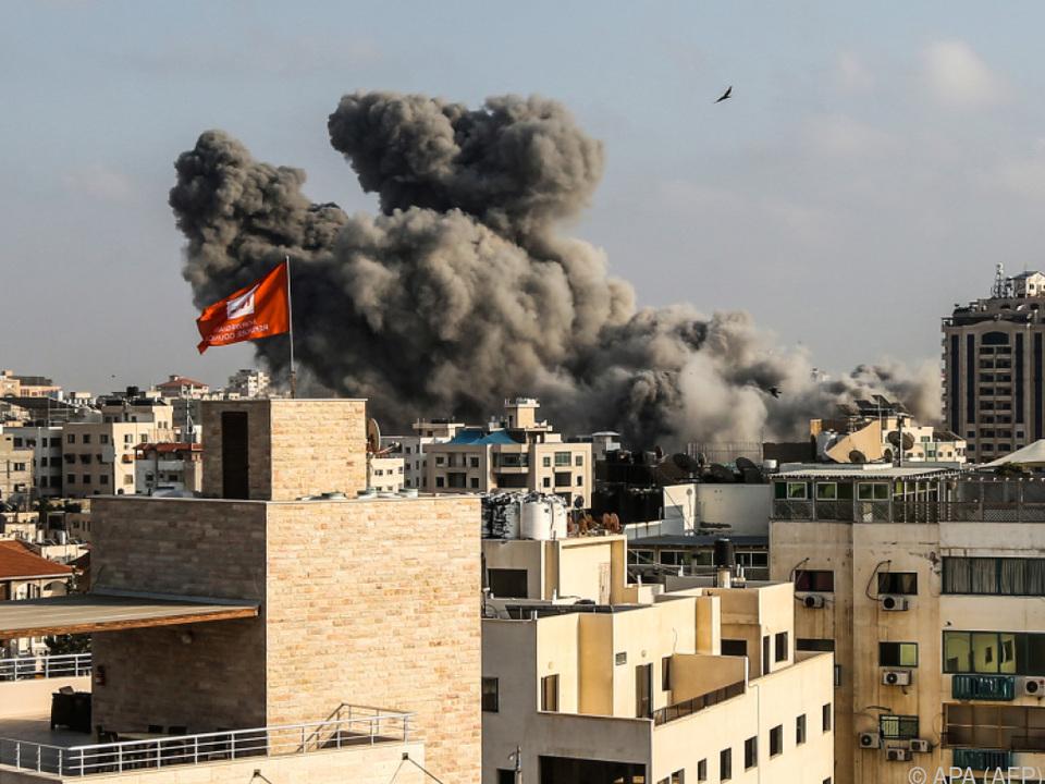 Israelischer Luftangriff auf Gaza am Samstag
