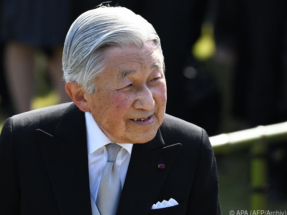 Kaiser Akihito wird aus gesundheitlichen Gründen 2019 abdanken