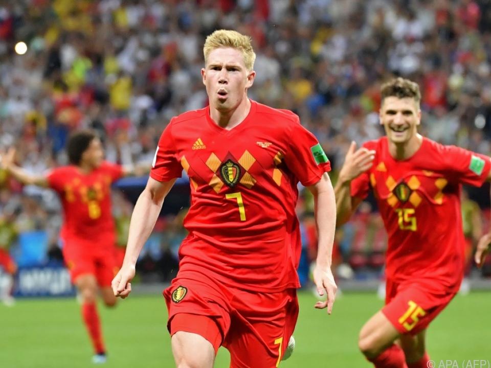 Kevin De Bruyne will auch beim Halbfinale gegen Frankreich jubeln