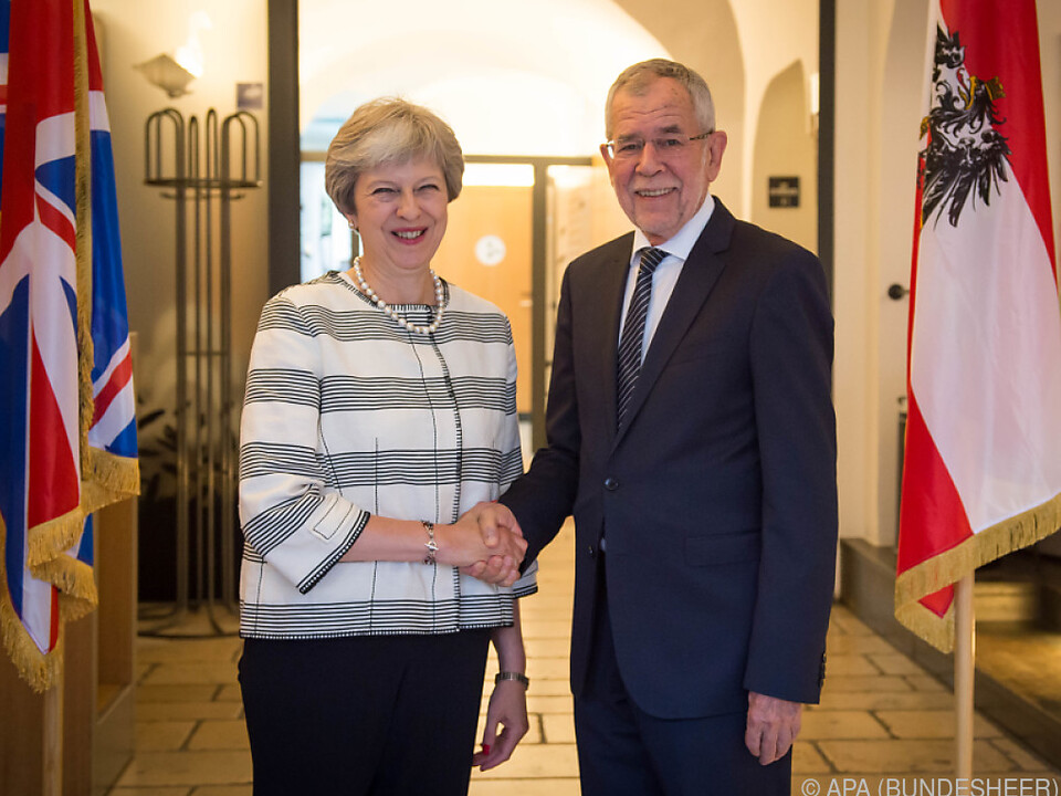 May traf in Salzburg neben Kurz auch Bundespräsident Van der Bellen