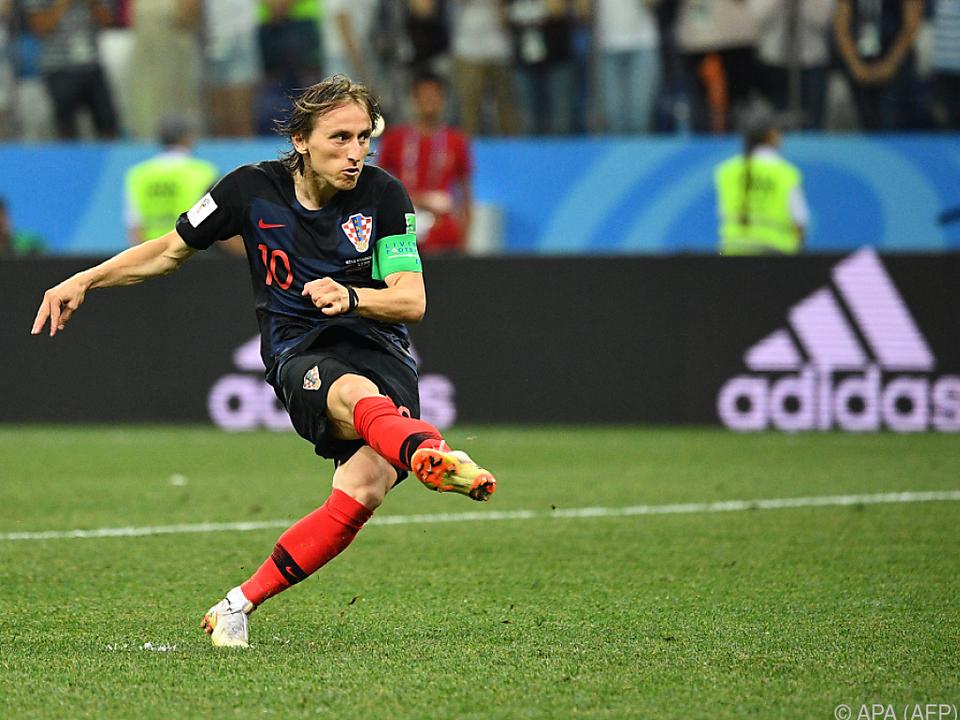 Modric versenkte den Ball im Elfmeterschießen