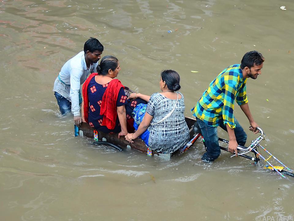 Monsunzeit in Indien dauert noch bis September
