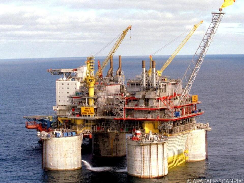 Norwegische Ölplattform in der Nordsee