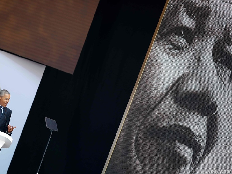Obama bei seiner Rede in Johannesburg